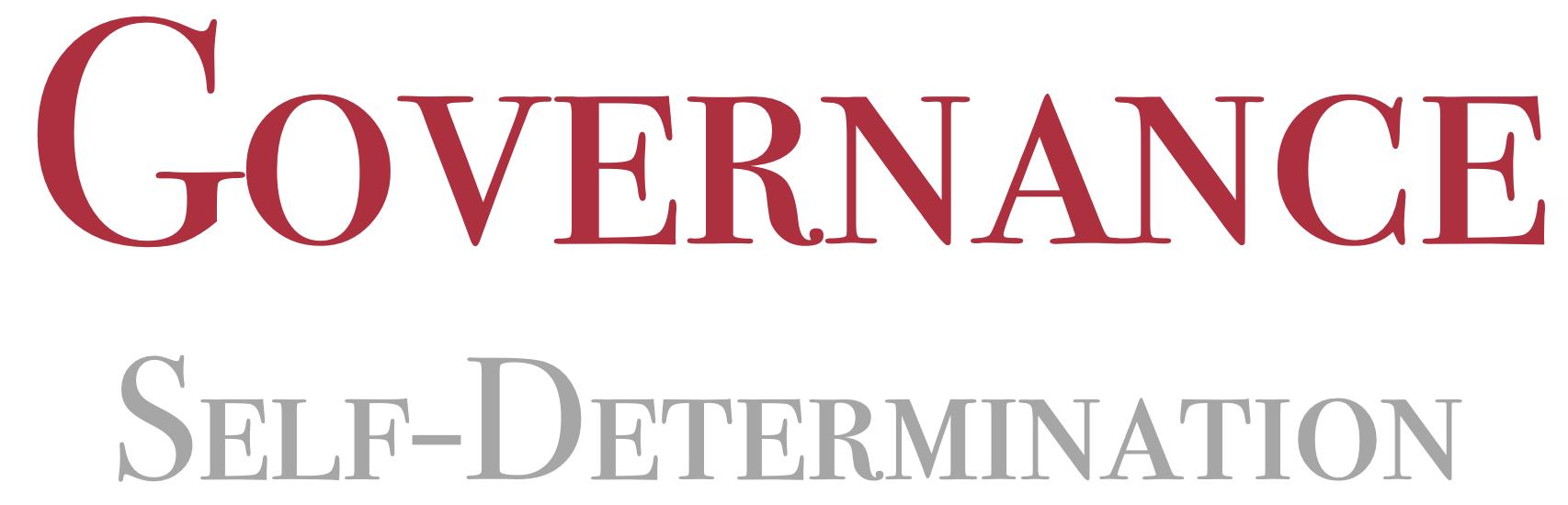 Governance Self-Determination